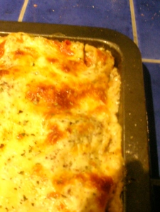 And the home made lasagna is finally ready!