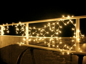 My Christmas Fairy Lights on the Terrace